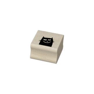 black cat head art stamp
