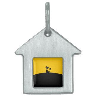Black Cat House Pet Tag