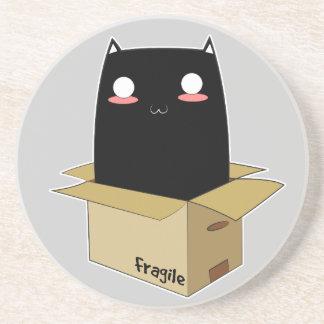 Black Cat in a Box Coaster