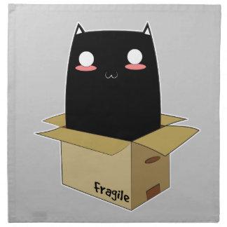 Black Cat in a Box Napkin