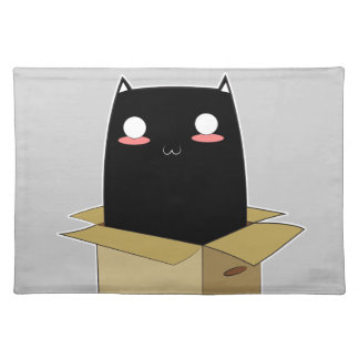 Black Cat in a Box Placemat
