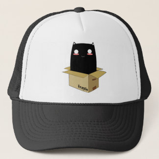 Black Cat in a Box Trucker Hat