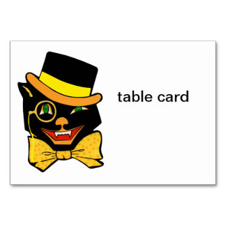 Black Cat in a Top Hat Table Cards