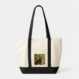 Black Cat in Morning Sun Impulse Tote Bag