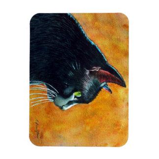 Black Cat in Profile Rectangular Photo Magnet
