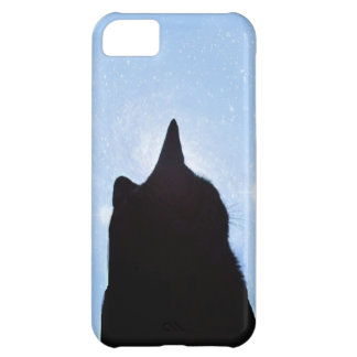 Black Cat in Space iPhone Cover iPhone 5C Case