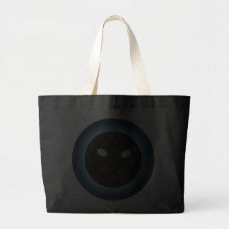 Black Cat in the Moon Halloween Totes Jumbo Tote Bag