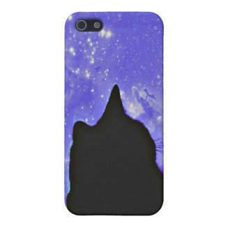Black cat in the Universe Case For The iPhone 5