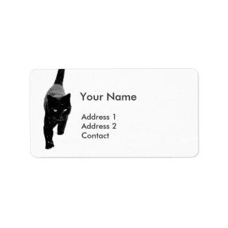 Black Cat in the White Snow Address Label