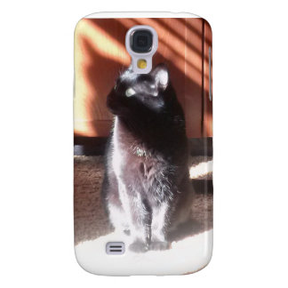 black cat in thought samsung galaxy s4 case