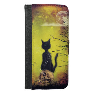 black cat iPhone 6/6s plus wallet case