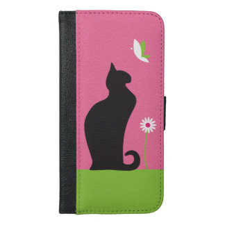 Black Cat iPhone 6 Plus Wallet Case
