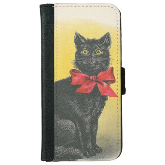 Black Cat iPhone 6 Wallet Case
