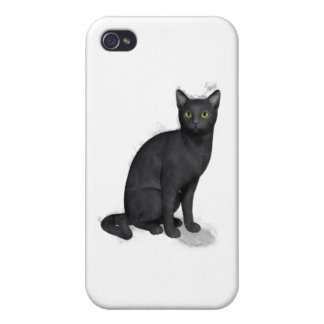 Black Cat iPhone 4/4S Covers