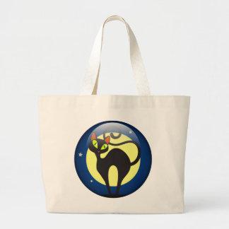 Black Cat Jumbo Tote Bag