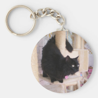 Black Cat Key Chain featuring Smoky