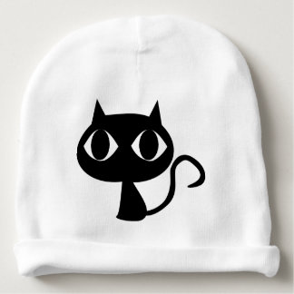 BLACK CAT KITTEN BABY BEANIE