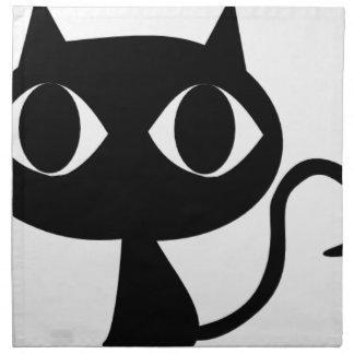 BLACK CAT KITTEN NAPKIN