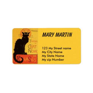 Black Cat Label, Address Label