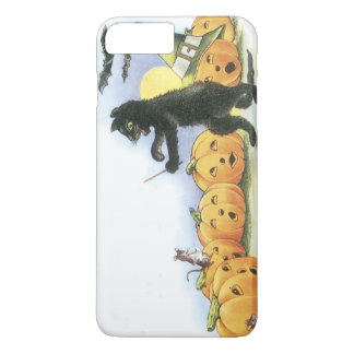 Black Cat Leading Jack O' Lantern Halloween Choir iPhone 8 Plus/7 Plus Case