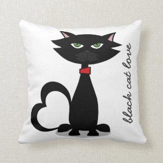black cat love -Kitty Kushion Cushion