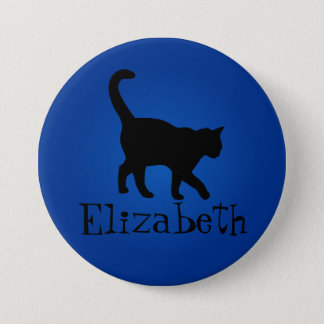 Black Cat Lover - My Name 7.5 Cm Round Badge