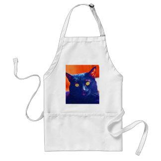 Black Cat Lucky Feline Cat Art Standard Apron
