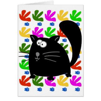 Black Cat Matisse Card