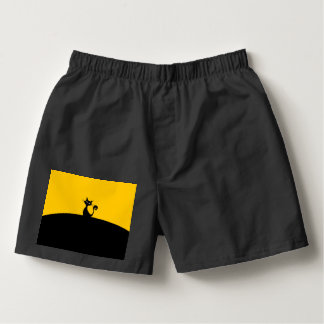 Black Cat Men's Boxercraft Cotton Boxers