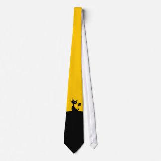 Black Cat Minimal Art Tie