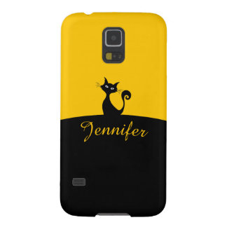 Black Cat Minimal Art, Your Name Galaxy S5 Case