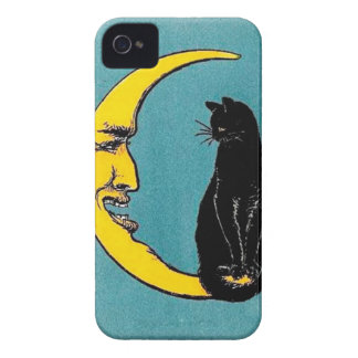Black Cat Moon Case iPhone 4 Cases