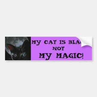 black-cat-moon, MY CAT IS BLACK..., NOT, MY MAGIC! Bumper Sticker