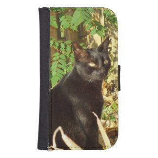 Black Cat Morning Sun Phone Wallet Case