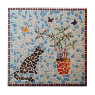Black Cat Mosaic Small Square Tile