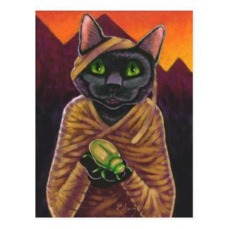 Black Cat Mummy Postcard