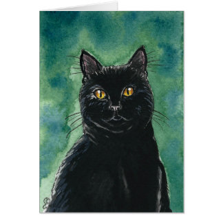 Black Cat Note Card