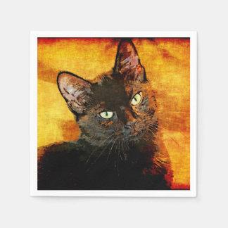 BLACK CAT OLIVE DISPOSABLE NAPKIN