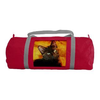 BLACK CAT OLIVE GYM DUFFEL BAG