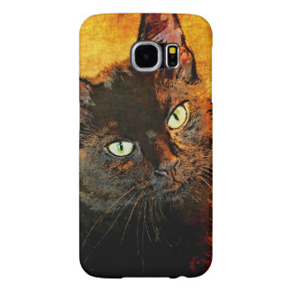 BLACK CAT OLIVE SAMSUNG GALAXY S6 CASES