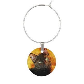 BLACK CAT OLIVE WINE CHARM