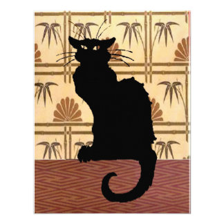 Black Cat on Abstract Wallpaper Announcements