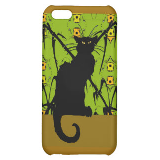 Black Cat on Abstract Wallpaper iPhone 5C Cover