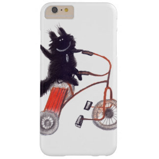 black cat on bicycle barely there iPhone 6 plus case