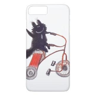 black cat on bicycle iPhone 7 plus case