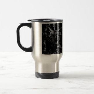 Black Cat on Stainless Steel mug