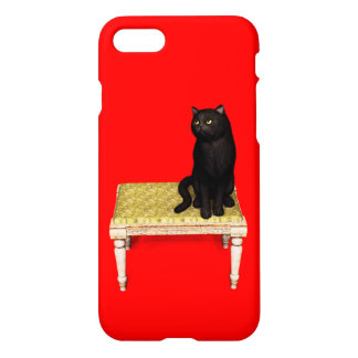 Black cat on the stool iPhone 7 case