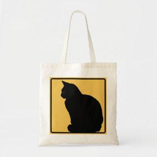 Black Cat Orange Budget Tote Bag