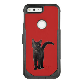 Black Cat OtterBox Commuter Google Pixel Case