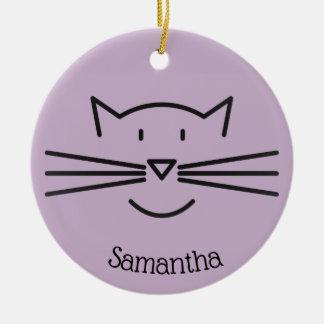 Black Cat Outline Ornament